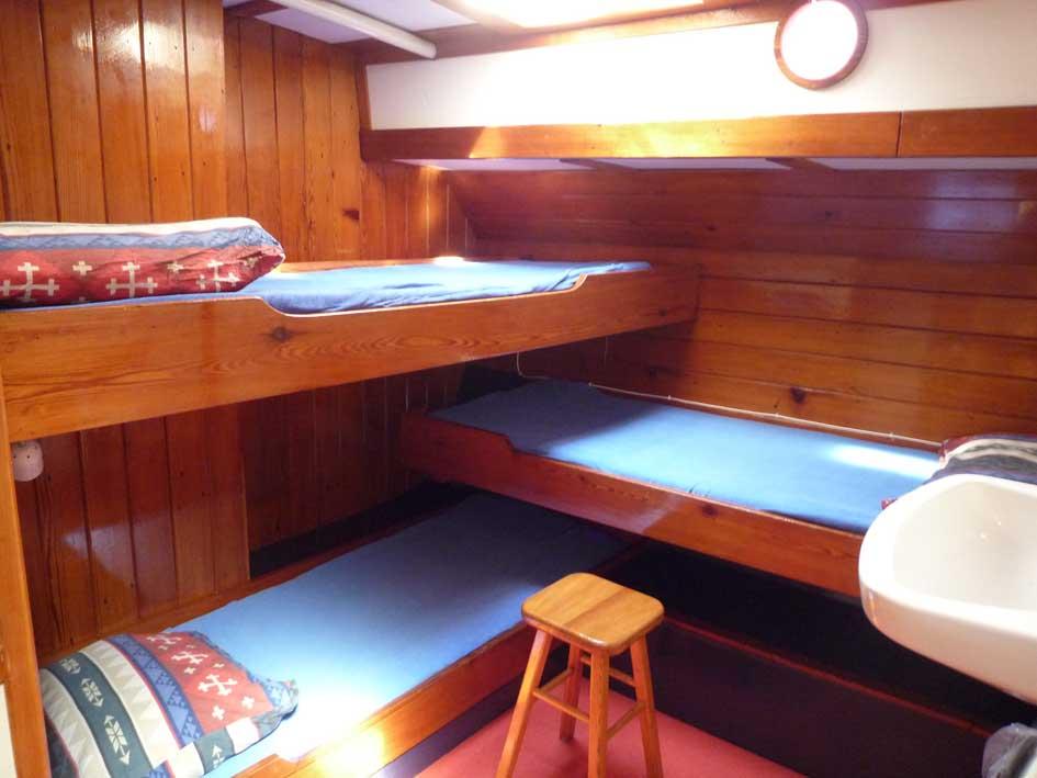 three person cabin