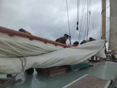 Storing the sails
